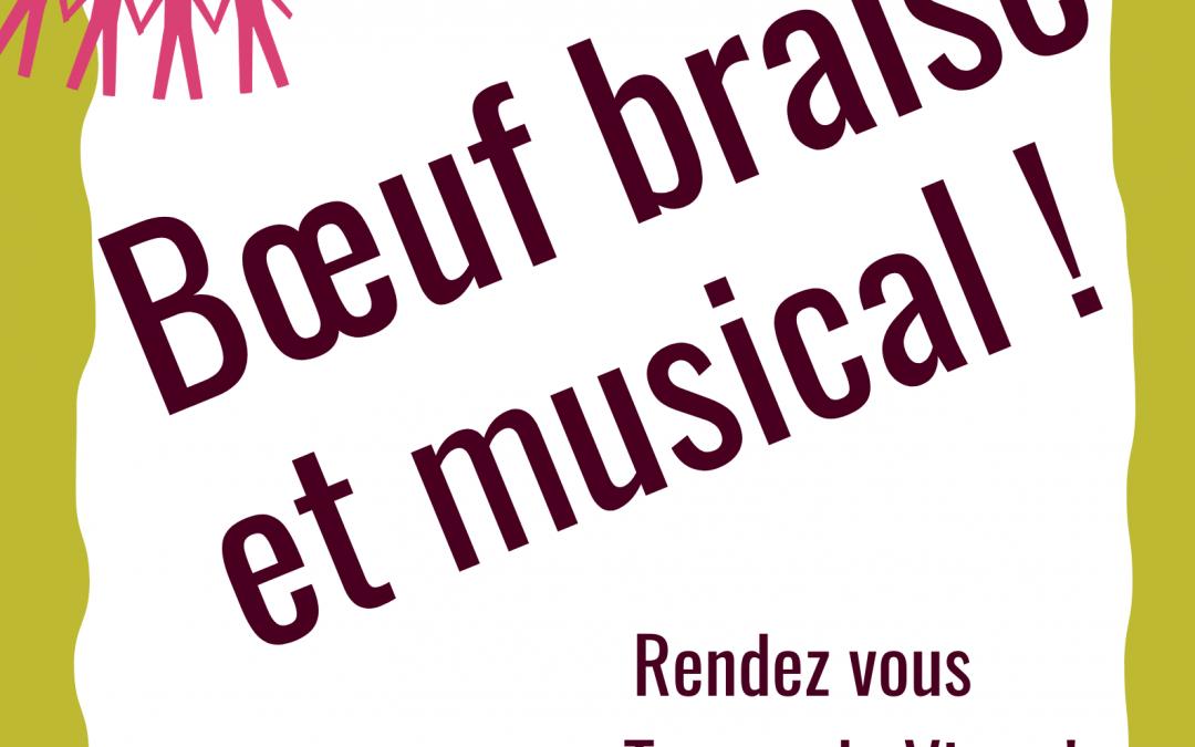 Vendredi 2 juillet : Boeuf braisé et musical au Temps de Vivre !